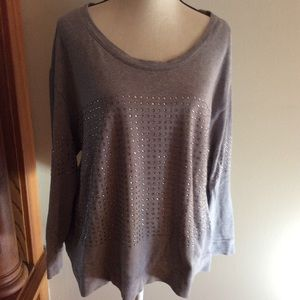 Jessica Simpson studded 1x pull over sweatshirt